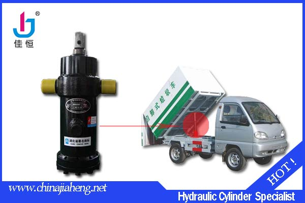 Single-acting hydraulic cylinder for garbage truck